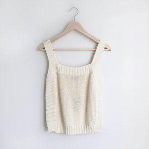 NWT Massimo Dutti cream knit tank - size Medium